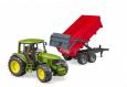 Traktor JOHN Deere 6920 + sklápací voz červený