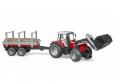 Traktor Massey Ferguson + prepravnik na drevo