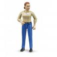 Figúrka žena - modré nohavice