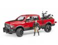 Terénne auto RAM + figúrka, motocykel