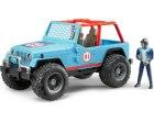 Jeep Cross Country modrý + figúrka pretekára