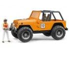 Jeep Cross Country oranžový + figúrka pretekára
