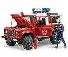 Hasičský Land Rover Defender s figúrkou hasiča