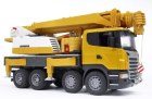Nákladné auto Scania – žeriav Liebherr
